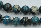 CSE62 15.5 inches 12mm round dyed natural sea sediment jasper beads