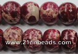 CSE67 15.5 inches 15*18mm rondelle dyed natural sea sediment jasper beads
