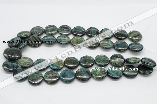 CSG19 15.5 inches 12mm flat round long spar gemstone beads wholesale