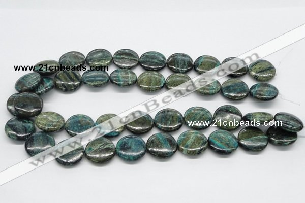 CSG20 15.5 inches 25mm flat round long spar gemstone beads wholesale