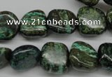 CSG34 15.5 inches 14*14mm freeform long spar gemstone beads