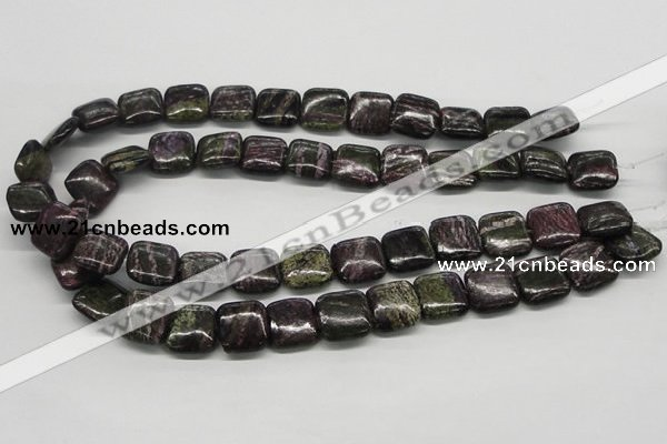 CSG59 15.5 inches 16*16mm square long spar gemstone beads wholesale