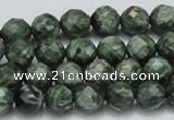 CSH07 15.5 inches 10mm faceted round natural seraphinite beads
