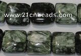 CSH104 15.5 inches 16*16mm square natural seraphinite gemstone beads