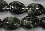 CSH134 15.5 inches 16*20mm oval natural seraphinite gemstone beads