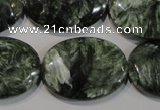 CSH137 15.5 inches 22*30mm oval natural seraphinite gemstone beads