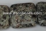 CSI60 15.5 inches 30*30mm square silver scale stone beads wholesale