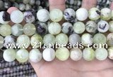 CSJ304 15.5 inches 12mm round serpentine new jade beads wholesale