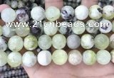 CSJ305 15.5 inches 14mm round serpentine new jade beads wholesale