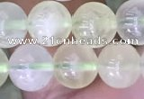 CSJ320 15.5 inches 8mm round serpentine new jade beads