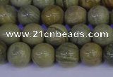 CSL202 15.5 inches 8mm round silver leaf jasper beads wholesale