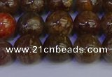 CSL224 15.5 inches 12mm round gold leaf jasper beads wholesale