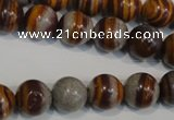 CSL83 15.5 inches 12mm round silver leaf jasper beads wholesale