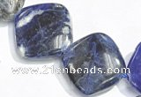 CSO04 15.5 inches 10mm rhombus A grade sodalite beads wholesale