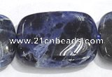CSO08 A grade 15.5 inches 10*14mm rectangle sodalite beads