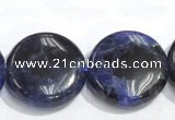 CSO10 15.5 inches A grade 10mm coin sodalite beads wholesale