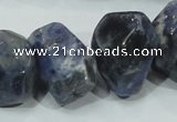 CSO104 15.5 inches 18*25mm faceted nugget sodalite gemstone beads