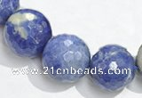 CSO18 8mm faceted round AB grade sodalite beads wholesale