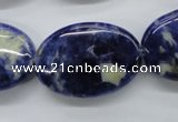 CSO216 15.5 inches 20*30mm oval sodalite gemstone beads
