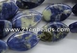CSO222 15.5 inches 12*20mm marquise sodalite gemstone beads