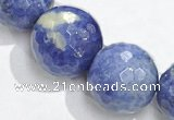 CSO23 AB grade 20mm faceted round sodalite beads wholesale