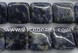 CSO235 15.5 inches 16*16mm square sodalite gemstone beads