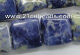 CSO237 15.5 inches 20*20mm square sodalite gemstone beads