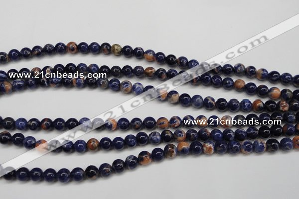 CSO261 15.5 inche 6mm round red sodalite gemstone beads wholesale