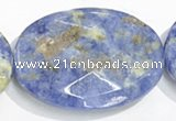 CSO29 15.5 inches faceted oval A grade 22*30mm sodalite beads