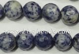 CSO306 15.5 inches 16mm faceted round Brazilian sodalite beads