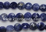 CSO36 15.5 inches 8mm faceted coin sodalite gemstone beads