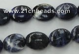 CSO370 15.5 inches 8*10mm oval natural sodalite gemstone beads