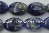 CSO371 15.5 inches 10*14mm oval natural sodalite gemstone beads
