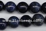 CSO405 15.5 inches 14mm round dyed sodalite gemstone beads