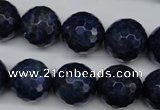 CSO416 15.5 inches 16mm faceted round dyed sodalite gemstone beads