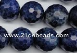 CSO417 15.5 inches 18mm faceted round dyed sodalite gemstone beads