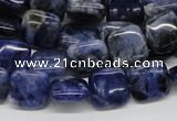 CSO43 15.5 inches 12*12mm square sodalite gemstone beads wholesale