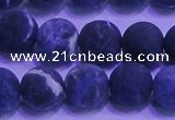 CSO456 15.5 inches 10mm round matte sodalite gemstone beads