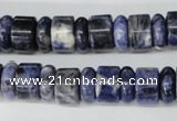 CSO50 15.5 inches 4*12mm & 8*12mm rondelle sodalite gemstone beads