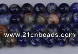 CSO511 15.5 inches 6mm round orange sodalite beads wholesale