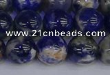 CSO515 15.5 inches 14mm round orange sodalite beads wholesale