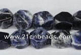 CSO56 15.5 inches 10*14mm faceted nuggets sodalite gemstone beads