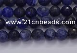 CSO600 15.5 inches 4mm faceted round sodalite gemstone beads