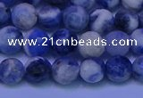 CSO622 15.5 inches 8mm faceted round AB grade sodalite beads