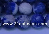 CSO625 15.5 inches 14mm faceted round AB grade sodalite beads
