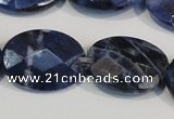 CSO68 15.5 inches 13*18mm faceted oval sodalite gemstone beads wholesale