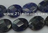 CSO707 15.5 inches 14mm faceted coin sodalite gemstone beads