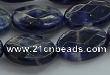 CSO719 15.5 inches 15*20mm faceted oval sodalite gemstone beads