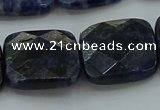 CSO729 15.5 inches 18*18mm faceted square sodalite gemstone beads