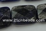 CSO730 15.5 inches 20*20mm faceted square sodalite gemstone beads